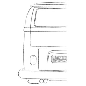 Camper sketch in black Design