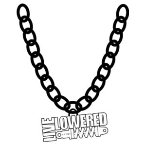 Logo Badge Big Chain in black Design