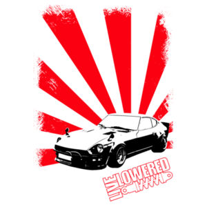 Datsun 240Z in black and red Design