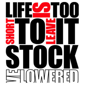 Life is too short in black/red Design