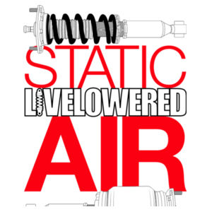 Static v Air in black and red Design