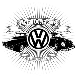 Golf & Beetle Crest in black Design