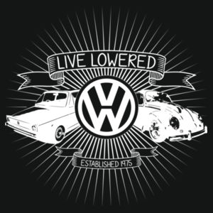 Golf & Beetle Crest in white Design